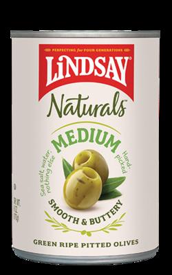 Lindsay  Naturals - Green Pitted Olives
