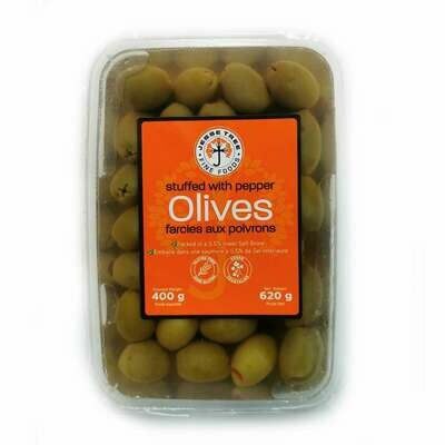 Green Olives stuffed w/Peppers (620g)