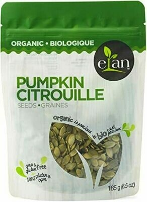 Elan - Organic Pumpkin Seeds Raw 185g