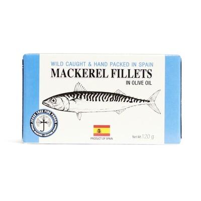 Mackerel Fillets in Olive Oil 120g