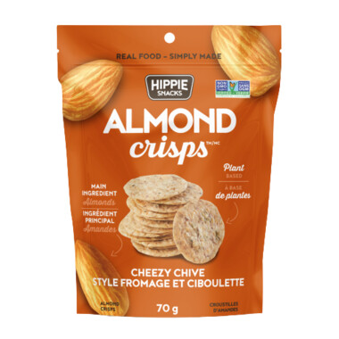 Hippie Foods - Almond Crispe - Cheezy Chive