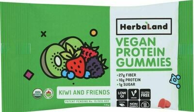 Herbaland - Vegan Protein Gummies - Kiwi & Friends