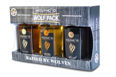 Wolfhead - Wolf Pack (3x 375ml) Whiskey