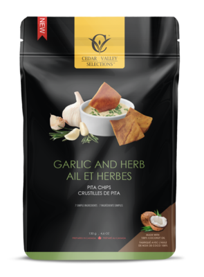 Cedar Valley - Garlic & Herb Pita Chips
