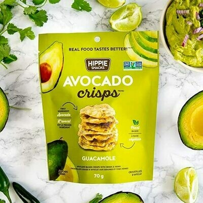 Hippie Foods - Avocado Crisps - Guacamole