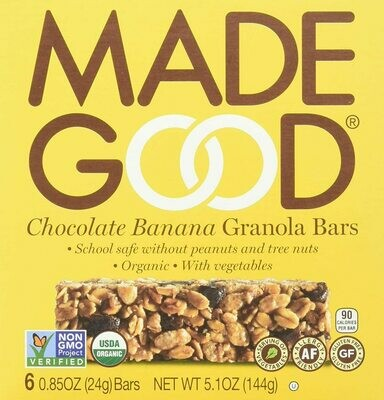 Made Good - Chocolate Banana Granola Bars 6-pack