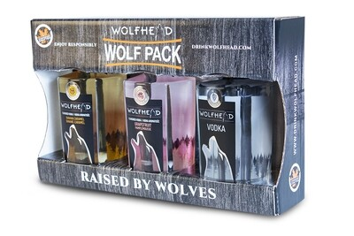 Wolfhead - Wolf Pack (3x 375ml) Vodka
