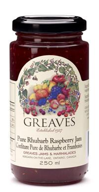 Greaves - Pure Rhubarb Raspberry Jam