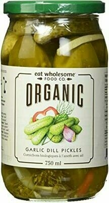 Organic Garlic Dill Pickles  (750ml)