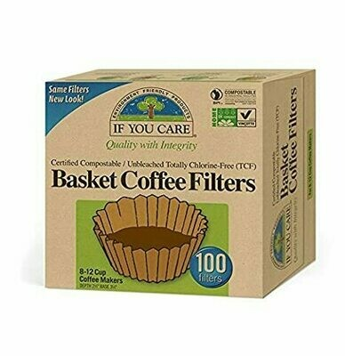 If You Care - Basket Coffee Filters Unbleached 8