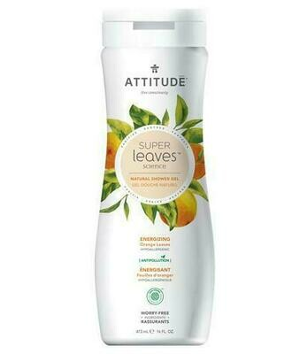 Attitude Natural Shower Gel - Energizing Orange Leaves (473ml)