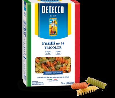 DeCecco - Fusilli Tri Colour 340g