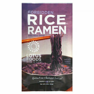 Lotus Foods - Forbidden Rice Ramen  w/Miso Soup Mix