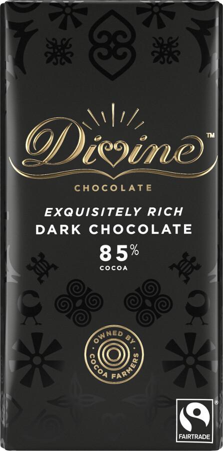 Divine Chocolate - 85% Dark Chocolate (V)