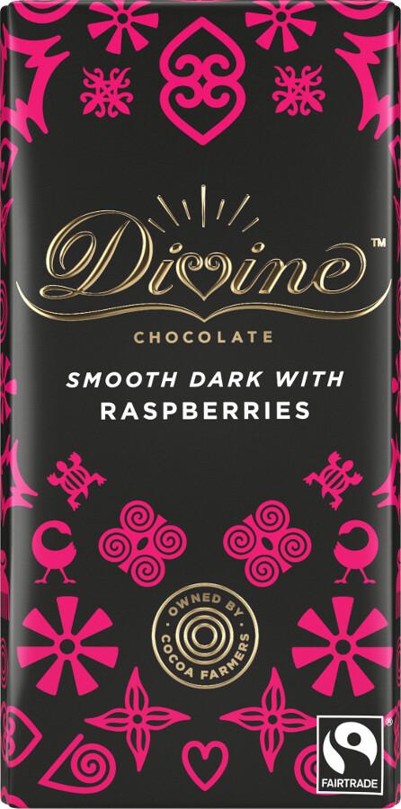 Divine - Dark Chocolate w/Raspberries (V)