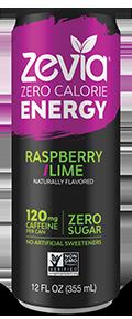 Zevia - Raspberry Lime Energy Drink