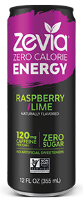Zevia - Raspberry Lime Energy Drink