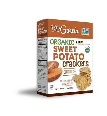 R.W. Garcia - Sweet Potato 3 Seed Crackers