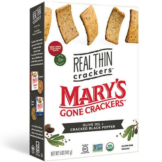 Mary's Org.Crackers - Olive Oil & Cracked Black Pepper (142g)