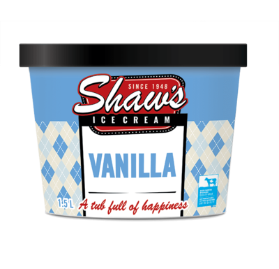 Shaw's Ice Cream -  Vanilla 1.5L