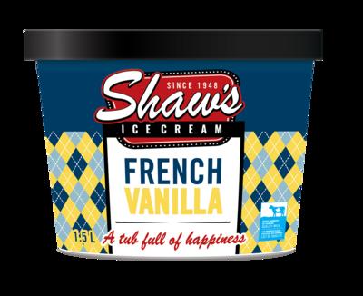 Shaw's Ice Cream - French Vanilla 1.5L
