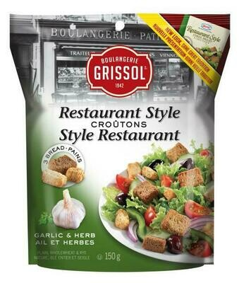 Grissol Classic Croutons - Garlic & Herb 150g