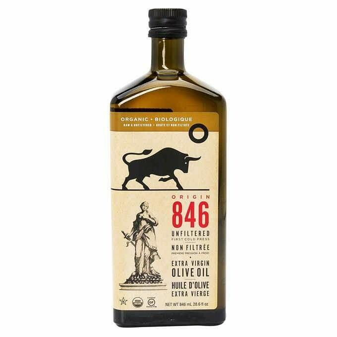 Origin 846 Organic Natural Unfiltered Extra Virgin Olive Oil (846ml)