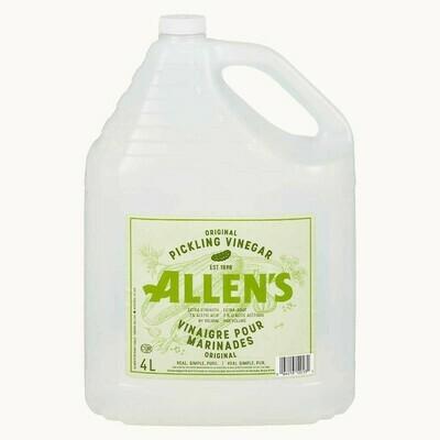 Allens Pure Pickling Vinegar   4L