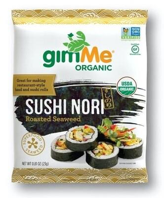 gimMe - Org. Roasted Seaweed Sushi Nori  23g