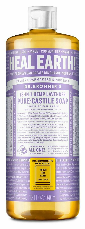 Dr. Bronner's 18-in-1-Lavender Pure Castile Soap (946ml)