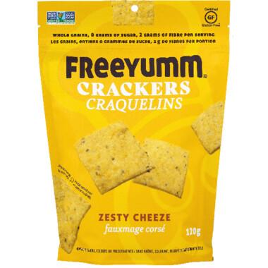 FREEYUM Crackers - Zesty Cheeze 120g