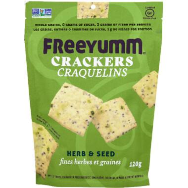 FREEYUM Crackers - Herb & Seed 120g