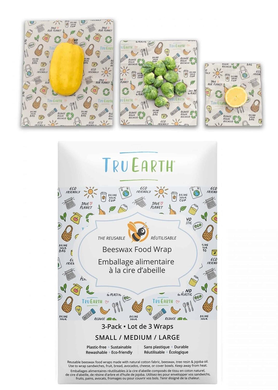 Tru Earth 3pk Beeswax Food Wrap