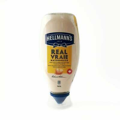 Hellmann's Real Mayonnaise  750ml (squeeze)