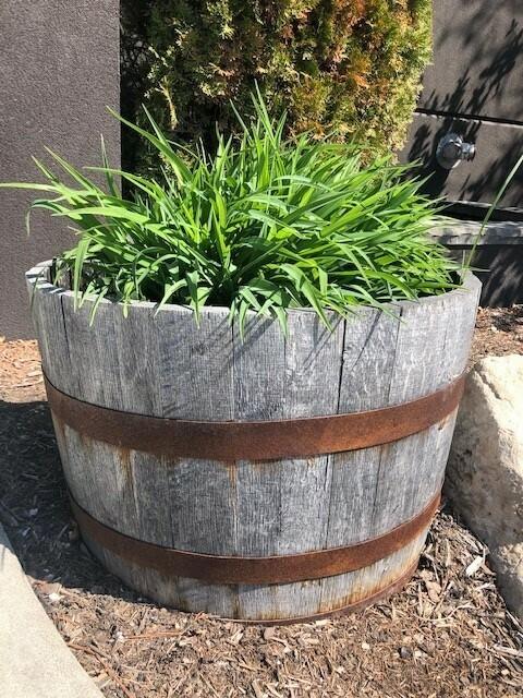 Wolfhead Whiskey  Barrel Planter