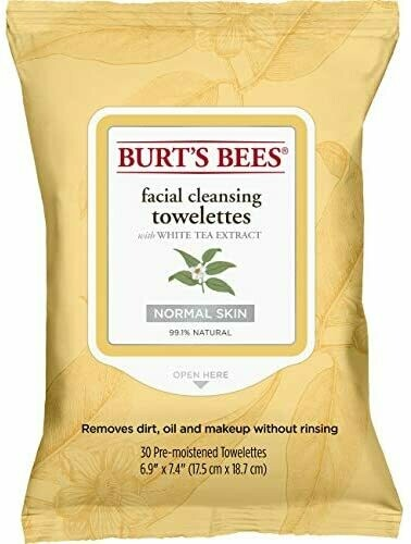 Burt's Bee Facial Cleansing Towelettes (30)