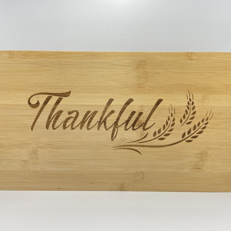Bamboo Cutting Board - Thankful