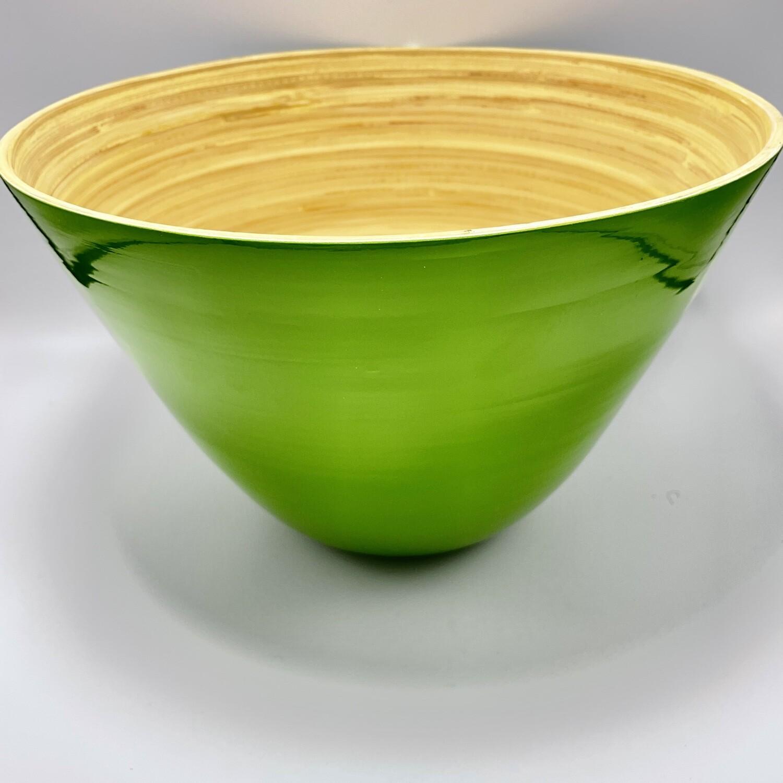 Round Green Bamboo Bowl