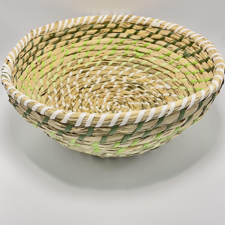 Wicker Basket w/Green