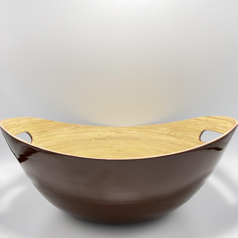 Burgundy Bamboo Salad Bowl