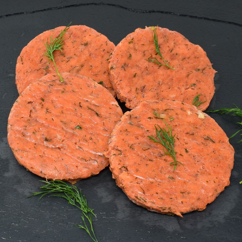 Dockside  - Wild Sockeye Burgers 4x4oz  (Salmon)