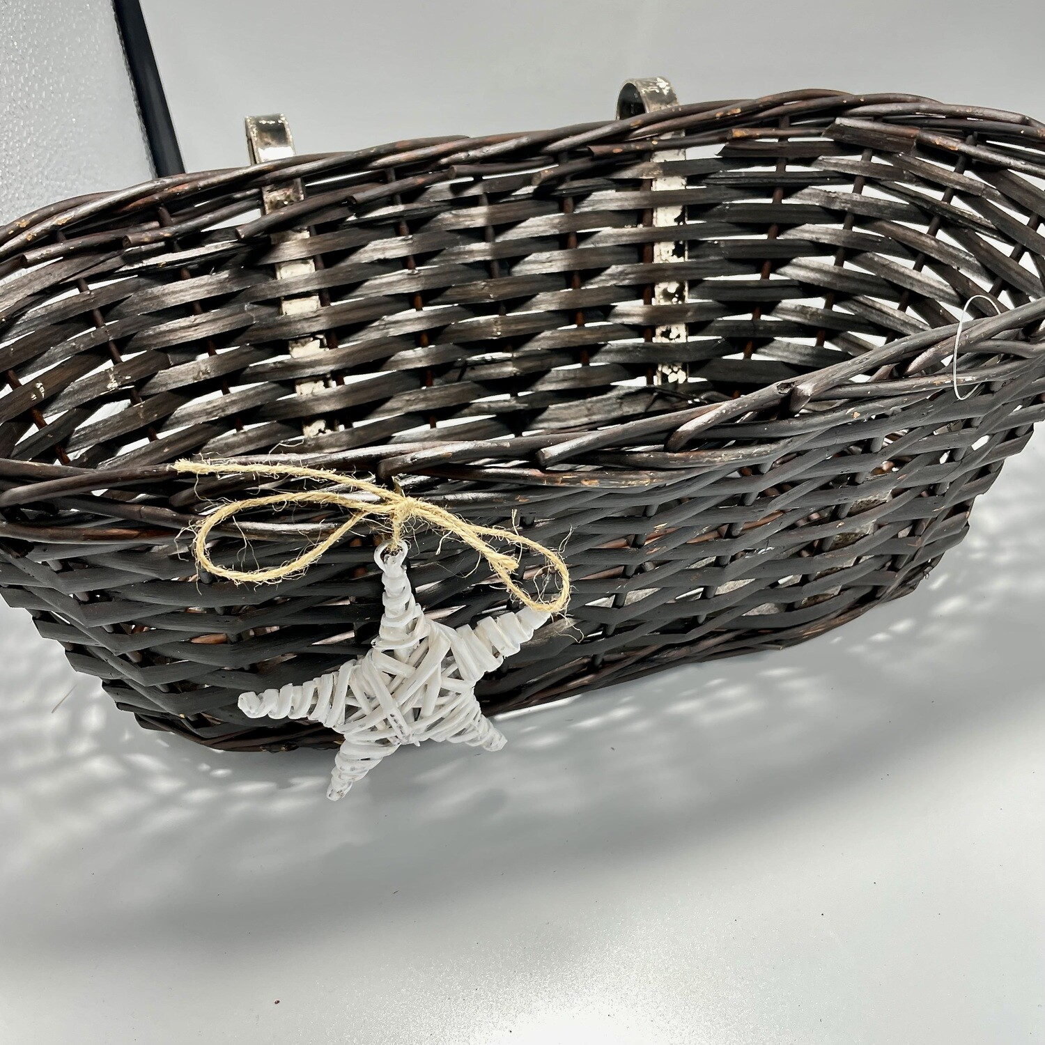 Oval Brown Willow Basket