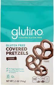 glutino - Covered Pretzels (Fudge)  156g