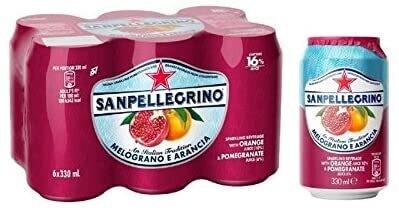San Pellegrino - Pomegranate & Orange 6pk.