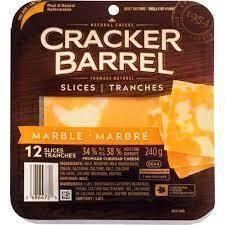 Cheese - Cracker Barrel Sliced Marble