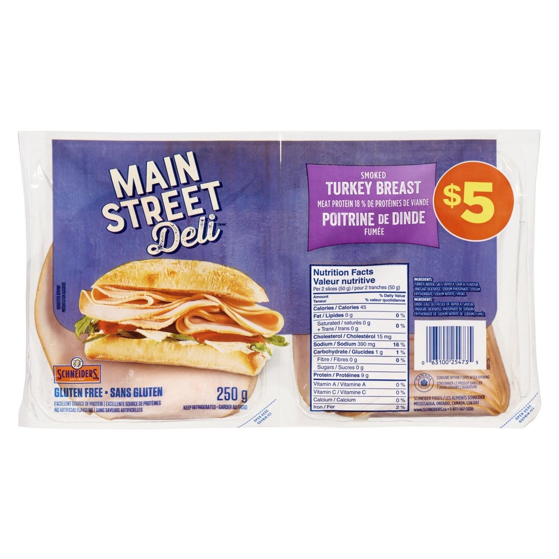 Main Street Deli - Smoked Turkey Slices 200g