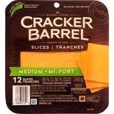 Cheese - Cracker Barrel Sliced Medium