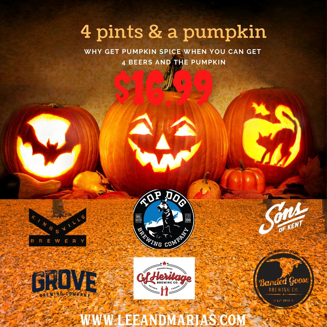 4 Pint & a pumpkin Deal