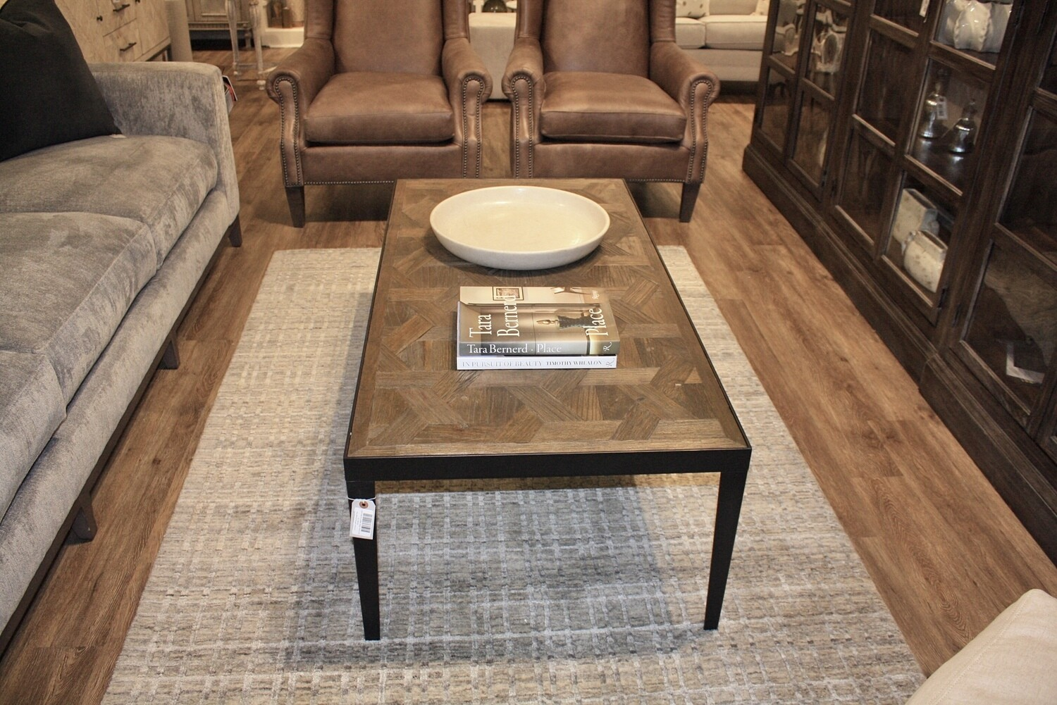 Coffee Table with Iron Legs