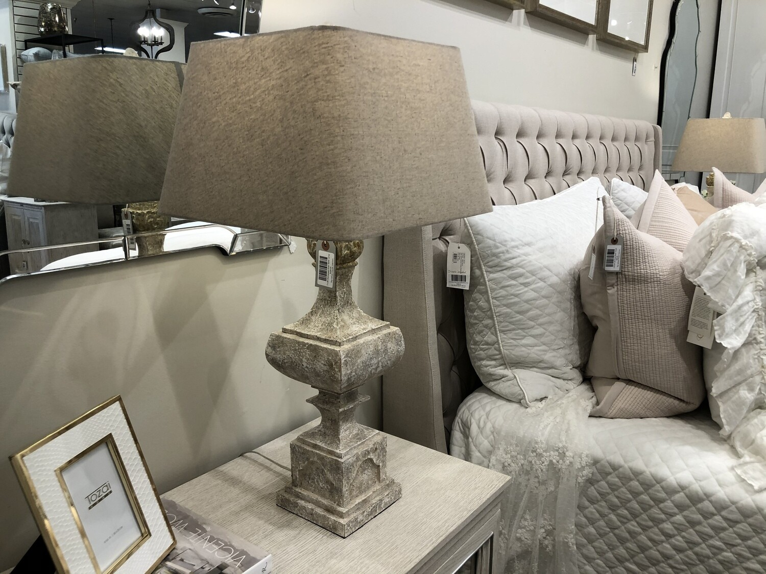 Distressed Gold Table Lamp